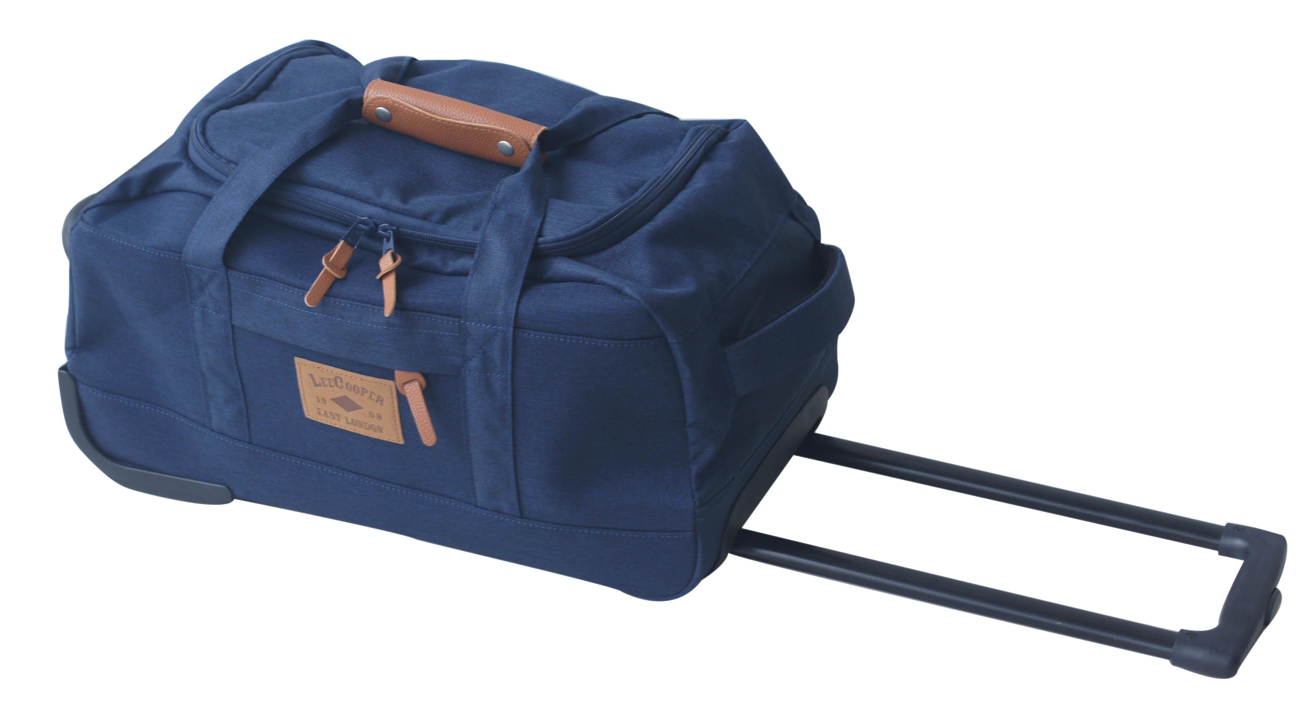 lee cooper sac de voyage roulettes 50cm bleu pas cher achat vente sacs de voyage. Black Bedroom Furniture Sets. Home Design Ideas