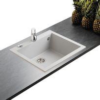 Ewi - Évier granit gris métal Urbia 1 bac 610x500
