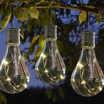 Smart Garden - Lot de 6 ampoules Led ambrées à énergie solaire hauteur 10cm Eureka