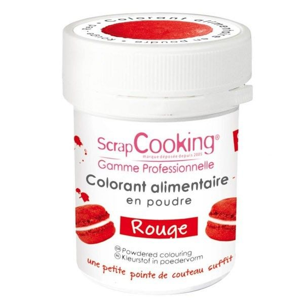 Scrapcooking Colorant alimentaire Rouge