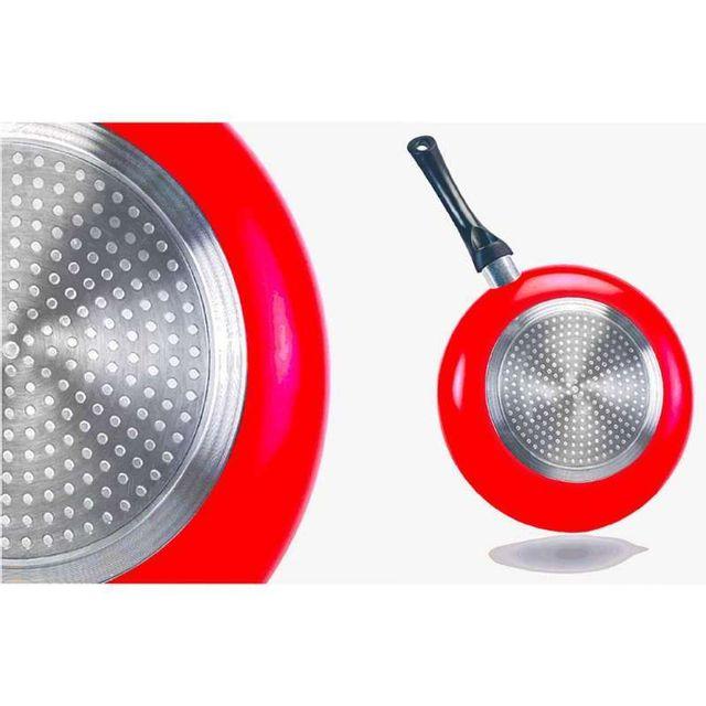 Provence Outillage - Batterie de cuisine pierre rouge 8 pièces