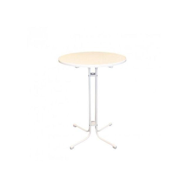 Materiel Chr Pro Table haute Limbourg blanc 80 cm