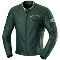 Homme Vintage Cuir Blouson Toutes Vert Eliott Saisons Promo Moto bI6yvfm7gY