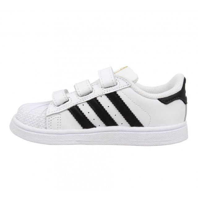 Adidas - Superstar Foundation cuir Enfant-24-Blanc + Noir