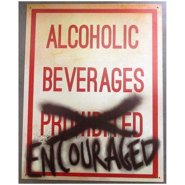 Universel Plaque alcoholic beverages tole deco bar diner loft cuisine