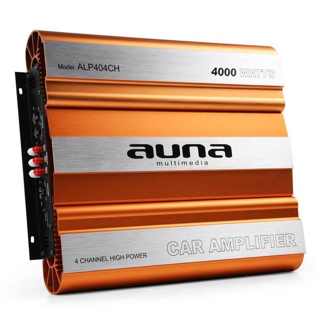 AUNA Ampli Sono Auto 2/3/4 Canaux Mosfet 4000W Max