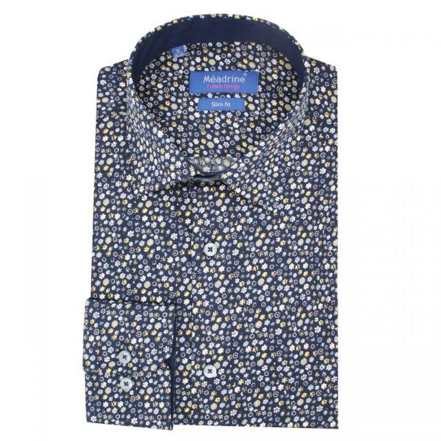 Meadrine chemise homme imprimé fleurs dsn-v01