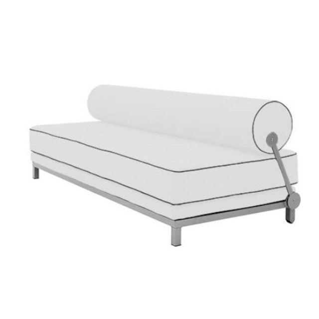 Inside 75 Canapé lit convertible design Sleep en tweed blanc structure aluminium Softline