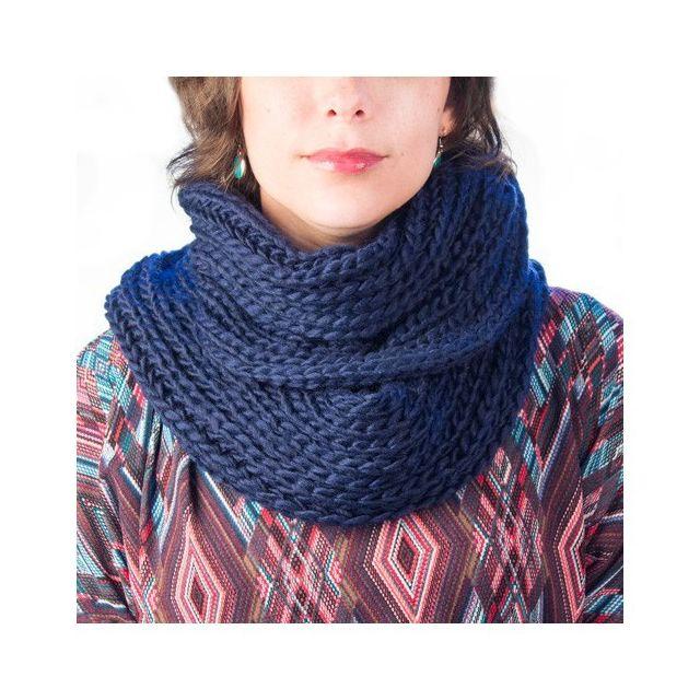31db5f27101 Marque Generique - Écharpe en tricot - Tour de cou chaud doux confortable  Couleur - Vert