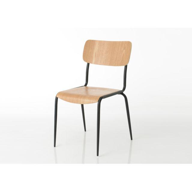 AMADEUS Chaise en bois naturel Écolier