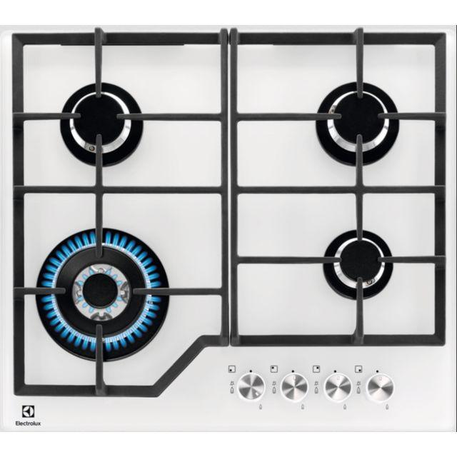 Electrolux Table De Cuisson Gaz 59cm 4 Feux 8900w Blanc Kgg6436w