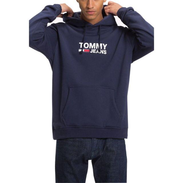 b4d830618ac Tommy hilfiger - Sweat à capuche drapeau - pas cher Achat   Vente Sweat  homme - RueDuCommerce