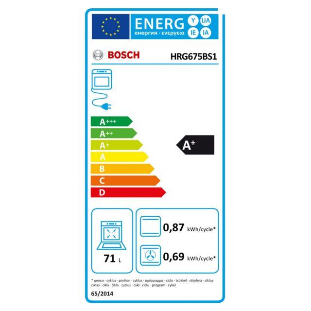 Bosch - four intégrable 71l 60cm ajout vapeur inox - hrg675bs1