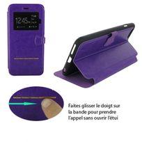 Colorfone - Etui folio pour iPhone 6 rabat violet fushia fermeture magnétique