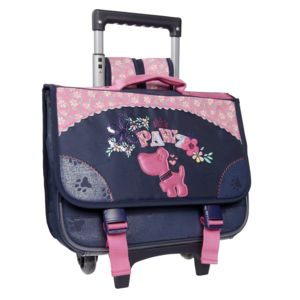 carrefour cartable roulettes dog 38 cm bleu et rose primaire pas cher achat vente. Black Bedroom Furniture Sets. Home Design Ideas