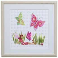 Happy Spaces - Reproduction Artistique Sur Toile Pour Enfant Butterfly Fairy De Tea-time-tots 30 X 30 X 2 Cm