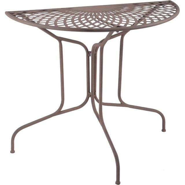 ESSCHERT DESIGN Table en métal demi-ronde