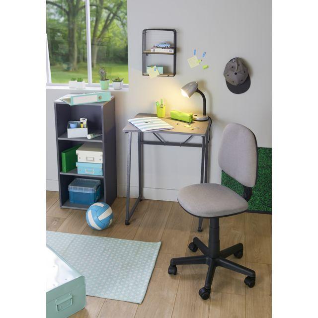 Bekend CARREFOUR HOME - Table Bureau - Gris - Métal, MDF et PVC - pas CP64