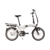 """ADORE - Vélo assistance électrique pliant 20'' Zero E-Bike 20"""" blanc 3 vit 250 Watt Li-Ion 36V/10,4Ah"""