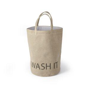 alin a wash it sac linge en toile de jute beige pas cher achat vente panier linge. Black Bedroom Furniture Sets. Home Design Ideas