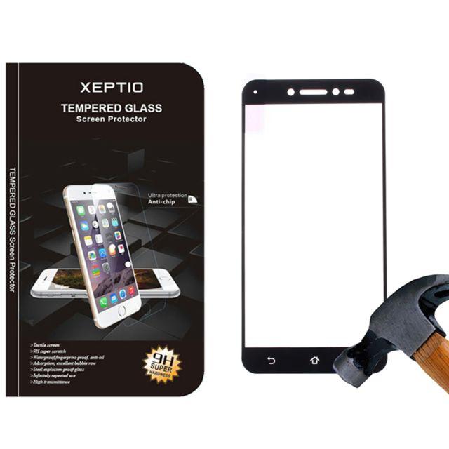 xeptio asus zenfone live zb501kl protection d 39 cran en verre tremp full cover noir. Black Bedroom Furniture Sets. Home Design Ideas