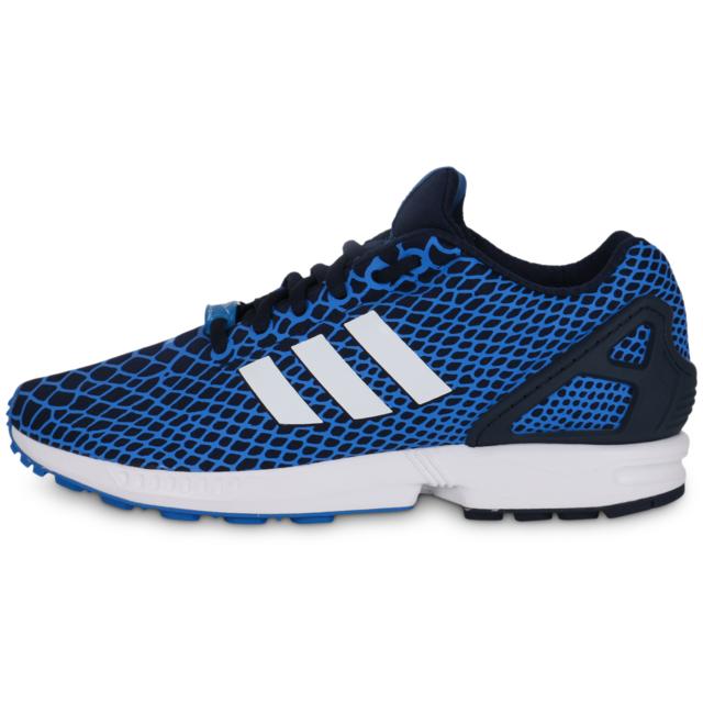 best service c8a2b 0f2e9 Adidas originals - adidas Originals Zx Flux Techfit Bleu Et Blanc - Running