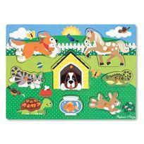 MELISSA AND DOUG - Puzzle bois encastrement animaux