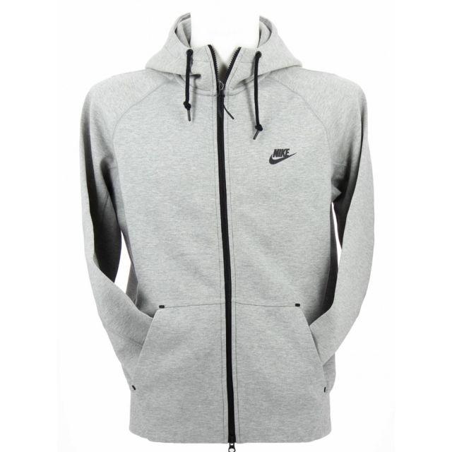 86a950d308aa Nike - Sweat Tech Fleece Aw77 Full-Zip Hoodie - Ref. 559592-063 Gris - XL -  pas cher Achat   Vente Sweat homme - RueDuCommerce