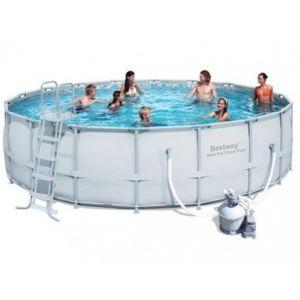 bestway piscine tubulaire ronde 5 49 x 1 32 m avec. Black Bedroom Furniture Sets. Home Design Ideas