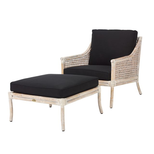 Rotin Design Soldes 54 Fauteuil Et Repose Pied Bilbao Blanc