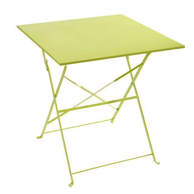 CARREFOUR - Table Bistrot carrée pliante - Vert - pas cher ...