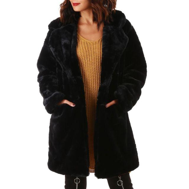 Manteau femme gris oversize