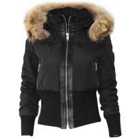No Brand - Altrov Veste Tina doudoune hiver femme fourrure véritable ceinture cintré - Collection hiver 2017-doudoune, fourrure, veste, doudoune, cuir, femme