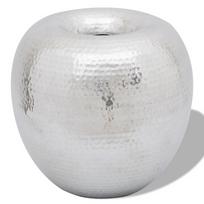 Rocambolesk - Superbe Vase décoratif en style vintage en aluminium martelé neuf