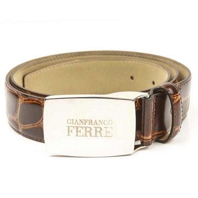 7dc1a28a18a GianFranco Ferre - Original Gian Franco Ferre - ceinture cuir 110 cm marron  neuf n1