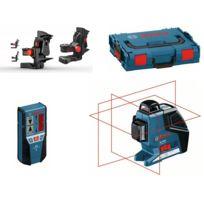 Bosch - Laser 3 croix 360° GLL 3-80 P + support BM1 Plus + récepteur LR 2 livré en coffret L-BOXX 060106330A