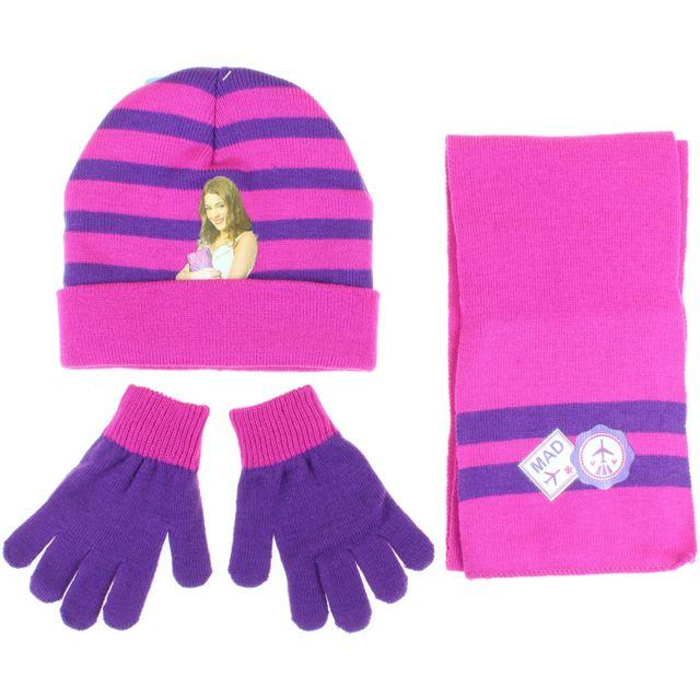 a207820152b Violetta - Bonnet et gants en acrylique Fille - pas cher Achat   Vente  Casquettes enfant - RueDuCommerce