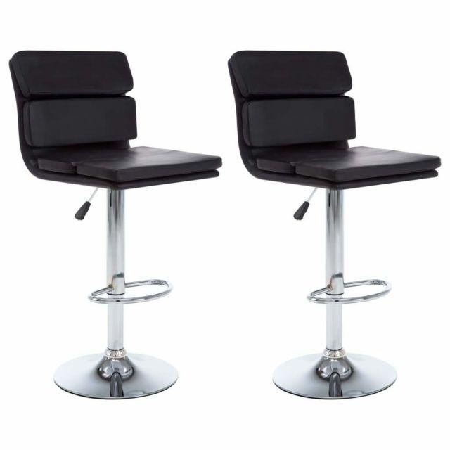 Helloshop26 Lot de deux tabourets de bar design chaise