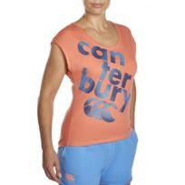 Canterbury - Tee-shirt rugby femme - Logo texte Ccc