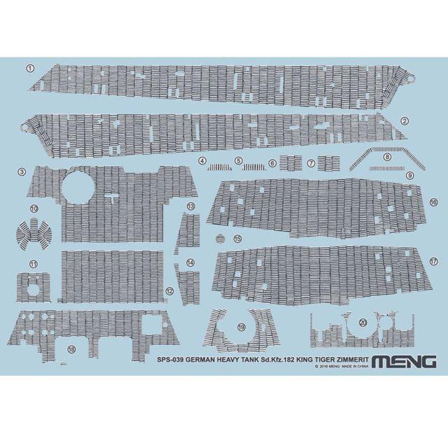 Meng Accessoire pour maquette : Sd.Kfz.182 King Tiger Zimmerit Decal