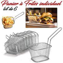 Panier a frite individuel lot de 6 inox
