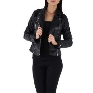 Veste simili cuir femme pas cher noir