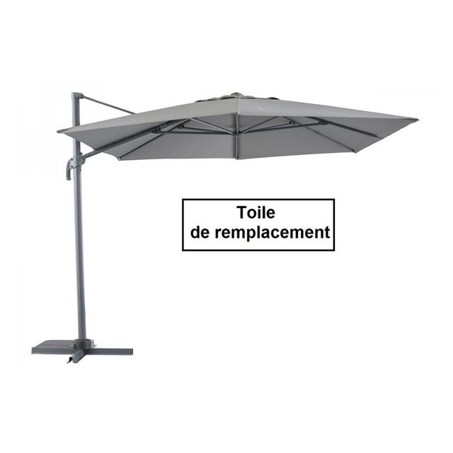 parasol rectangulaire inclinable super u