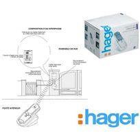 Hager - Kit interphone Sans Fil, portée 400m, platine de rue clavier+batterie+tèl