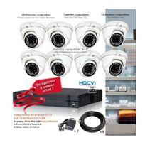 Dahua - Kit de vidéo surveillance Hd avec 8 dômes 720P Capacité du disque dur - Disque dur de 500 Go