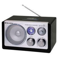 Roadstar - Radio Mono Design Retro Vintage Ebenisterie, vendu par lot de 8
