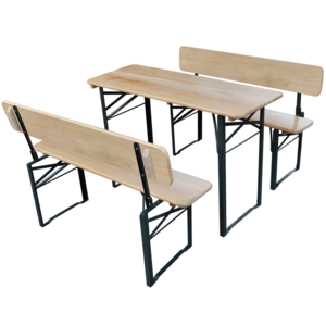 rocambolesk superbe table de brasserie pliante et 2. Black Bedroom Furniture Sets. Home Design Ideas