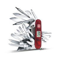 Victorinox - Couteau suisse 80 fonctions Swisschamp Xavt rouge transluc