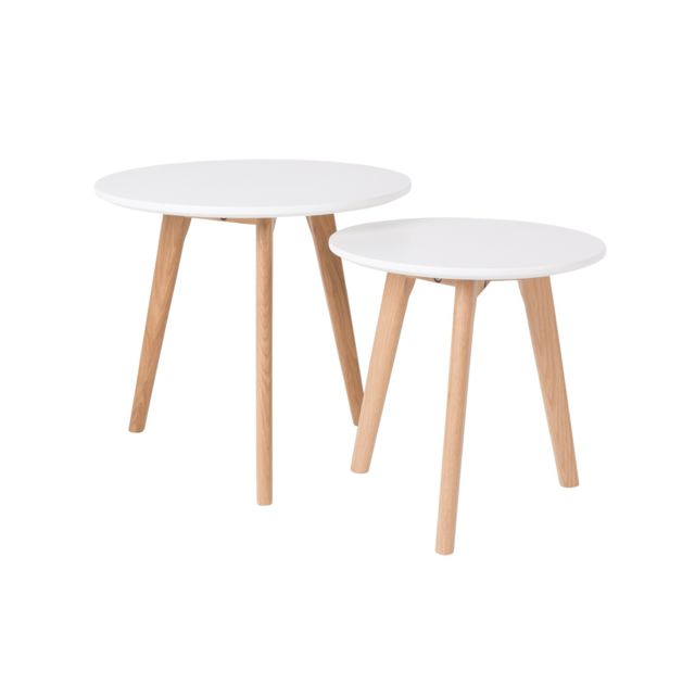 Boite A Design Tables basses scandinave Bodine - set de 2