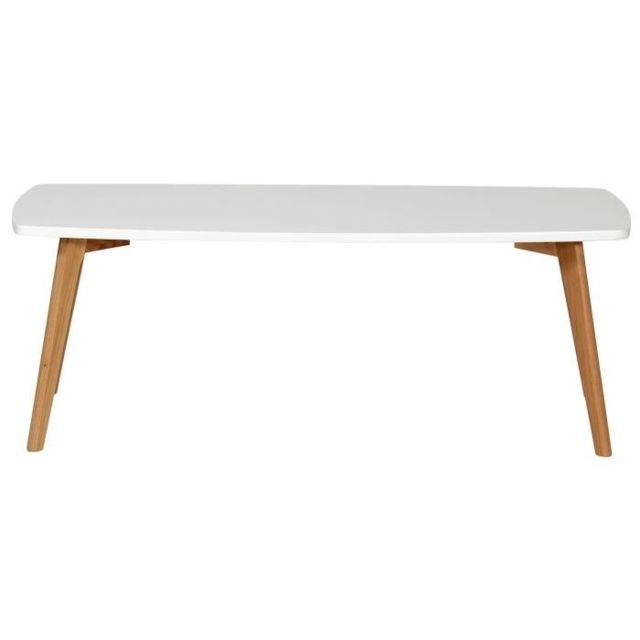 GÉNÉRIQUE - Table Basse Nordik Table basse scandinave blanc laqué ...